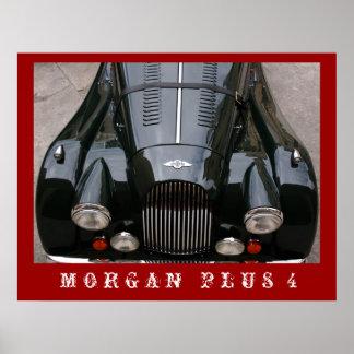 Morgan mais 4 - carro clássico pôster