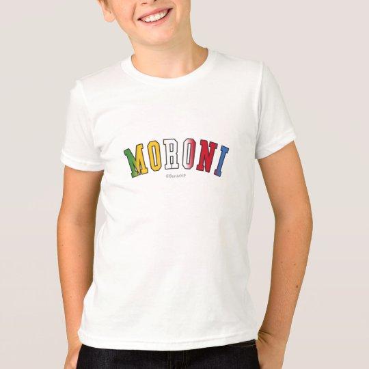 Moroni em cores da bandeira nacional de Cômoros Camiseta
