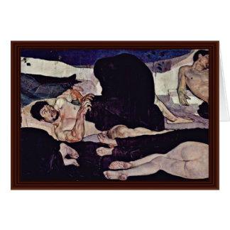 Morre Nacht por Hodler Ferdinand Cartões