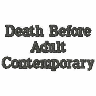 Morte antes do contemporâneo adulto camiseta bordada polo