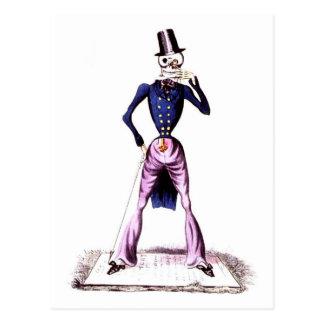 Morte como um cartão dos cavalheiros