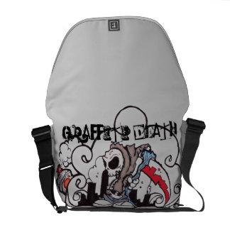 Morte dos grafites bolsas mensageiro