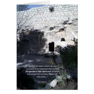 Morte e ressurreição do cristo - cartão