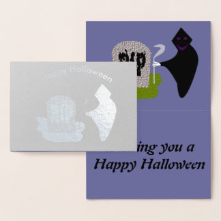 Morte no cartão da folha do Dia das Bruxas do