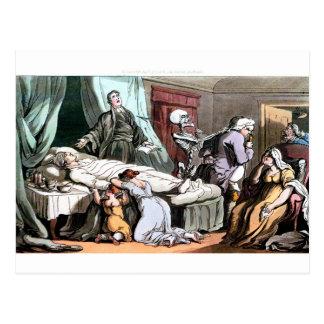 Morte no cartão do leito de morte
