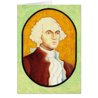 Mosaico 1930 do retrato de George Washington Cartão Comemorativo