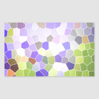 Mosaico abstrato da violeta da flor do vitral da adesivo retangular