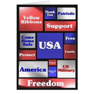 Mosaico América Cartão Comemorativo