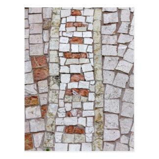 mosaico artístico cartão postal