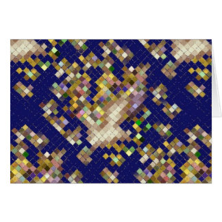 Mosaico azul cartão comemorativo