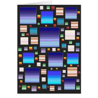 Mosaico azul cartoes