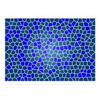 Mosaico azul cartão postal