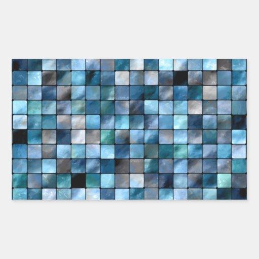 Mosaico azul dos azulejos adesivos retangulares