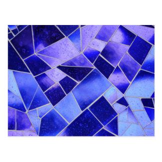 Mosaico azul elétrico cartão postal