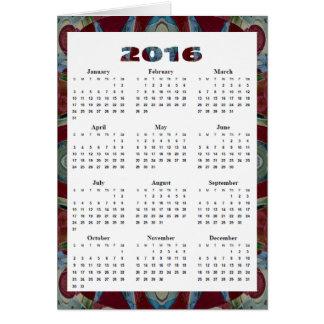 mosaico azul vermelho do marrom anual do cartão comemorativo