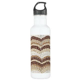 Mosaico bege 24 garrafas de água da onça