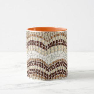 Mosaico bege caneca combinado de 11 onças