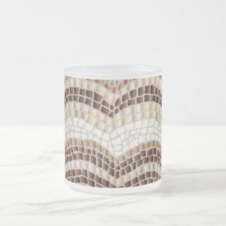 Mosaico bege caneca de um fosco de 10 onças