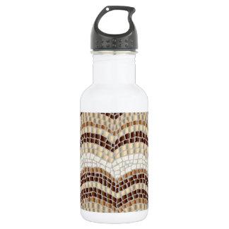 Mosaico bege garrafa de água de 18 onças