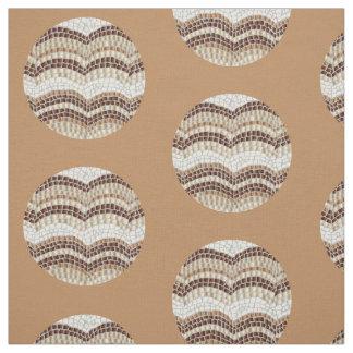 Mosaico bege redondo tecido de algodão penteado
