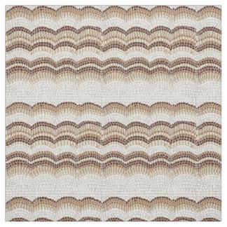 Mosaico bege tecido de algodão penteado