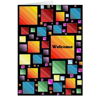 Mosaico bem-vindo cartão comemorativo