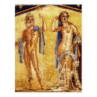 Mosaico BONITO de Pompeii Cartão Postal