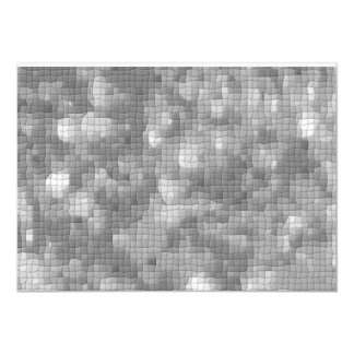 Mosaico cinzento prateado convites modelados