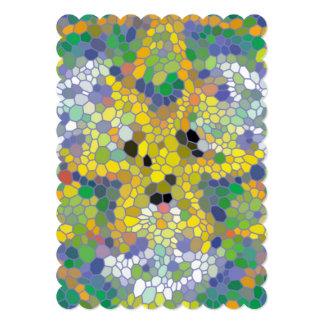 Mosaico colorido moderno convite personalizados