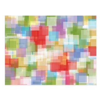Mosaico colorido quadrado abstrato cartão postal