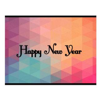 Mosaico colorido retro - o cartão de ano novo cartão postal