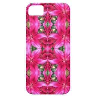 Mosaico cor-de-rosa dos lírios capa barely there para iPhone 5