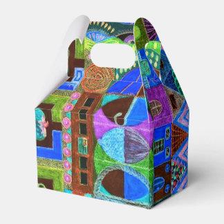 Mosaico corajoso & colorido das formas caixinhas de lembrancinhas para casamentos
