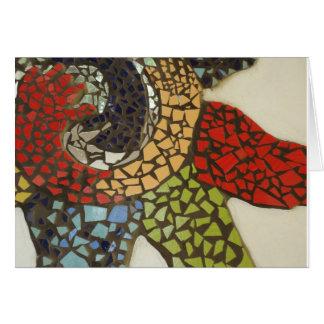 Mosaico da aprendizagem cartão de nota