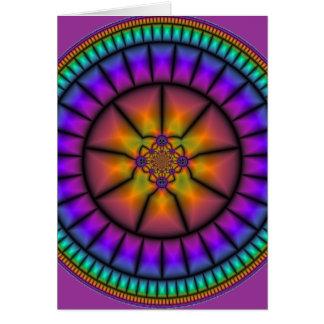 Mosaico da esfera celestial cartão