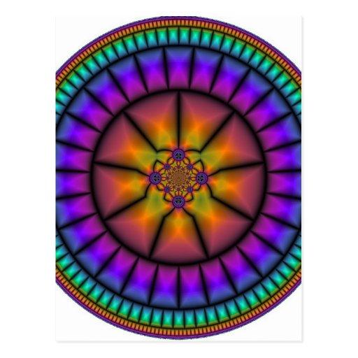 Mosaico da esfera celestial cartões postais