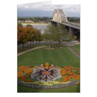 Mosaico da flor, Nijmegen Cartão Comemorativo