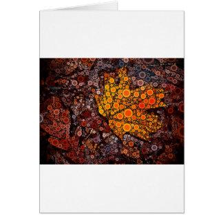 Mosaico da folha da queda cartao