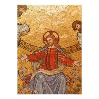 Mosaico da igreja - Jesus Cristo Convites Personalizados