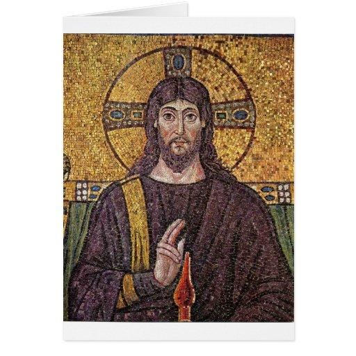 Mosaico de Jesus Cartoes