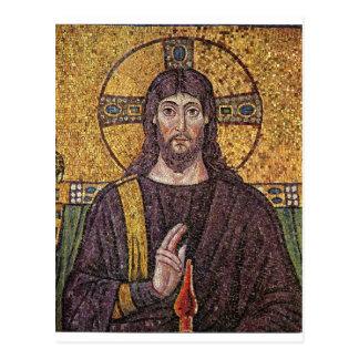 Mosaico de Jesus Cartão Postal