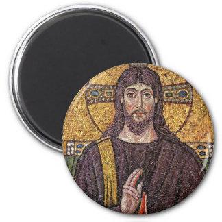 Mosaico de Jesus Ímã Redondo 5.08cm