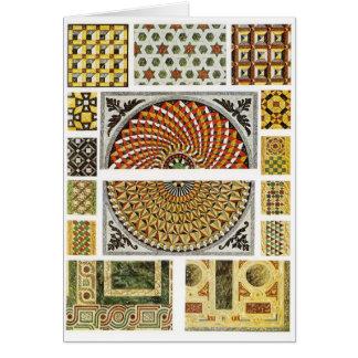 Mosaico de mármore bizantino do assoalho cartão comemorativo
