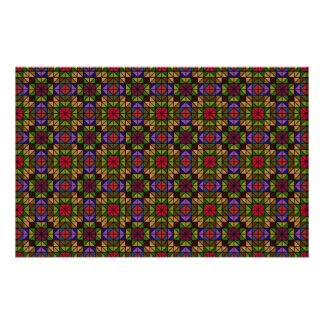 Mosaico de vidro multicolorido flyer 13.97 x 21.59cm
