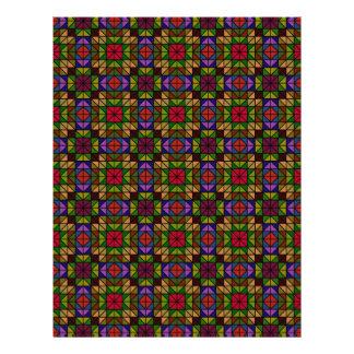 Mosaico de vidro multicolorido flyer 21.59 x 27.94cm