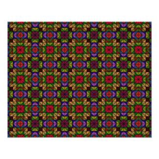 Mosaico de vidro multicolorido flyer 11.43 x 14.22cm