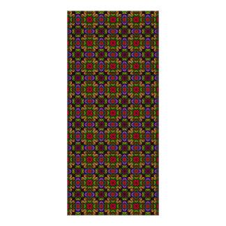 Mosaico de vidro multicolorido 10.16 x 22.86cm panfleto