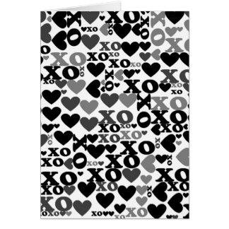 Mosaico de XO Cartão Comemorativo