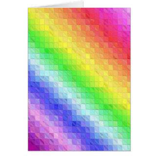 Mosaico do arco-íris cartão comemorativo