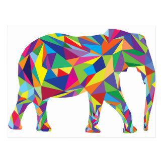 Mosaico do elefante cartões postais